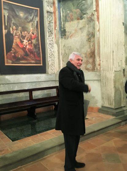 17 Gianpietro Biffi mentre racconta dei lavori di restauro della chiesa di Sant'Andrea in Catello