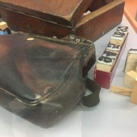 Museo dell'ATB borsa e obliteratrice del controllore