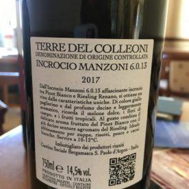 Incrocio Manzoni, Terre del Colleoni DOC