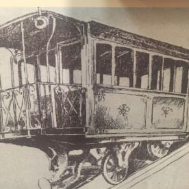 disegno della funicolare di Bergamo