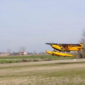 idrovolante di SportAction durante l'atterraggio