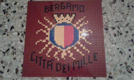 Lo stemma di Bergamo fatto coi mattoncini Lego