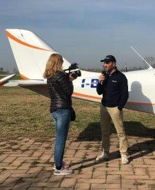Polina Yordanova di Teleboario intervista il pilota Davide TUrelli