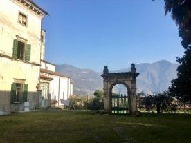 delimitazione giardino all'italiana e ortaglie a Palazzo Bazzini