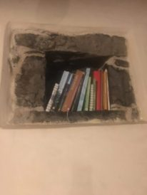 Libri nelle nicchie in pietra