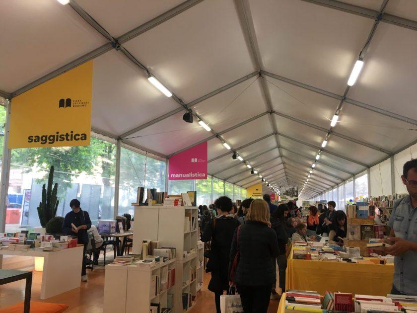 Interno della Fiera dei Librai di Bergamo 2019