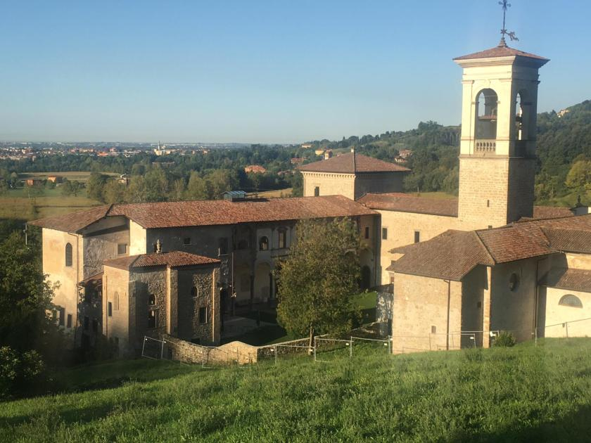 Monastero di Astino dalla strada superiore
