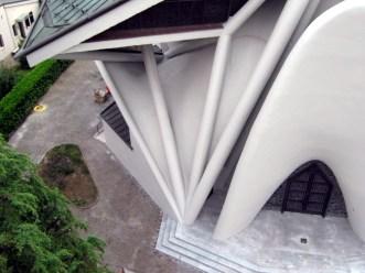chiesa di Longuelo dall'alto dopo il restauro particolare