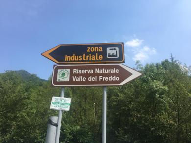 Indicazioni per arrivare alla valle del Freddo