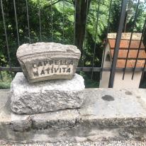 Cippo della Cappella della Natività al Santuario del Perello