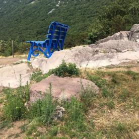 Panchina gigante a Rogno