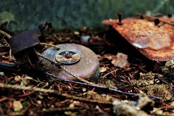 Campanello arrugginito nel giardino di Sciesopoli