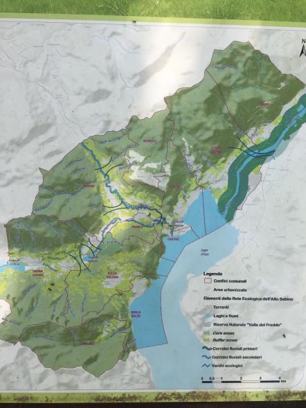 Cartina della riserva naturale della Valle del Freddo