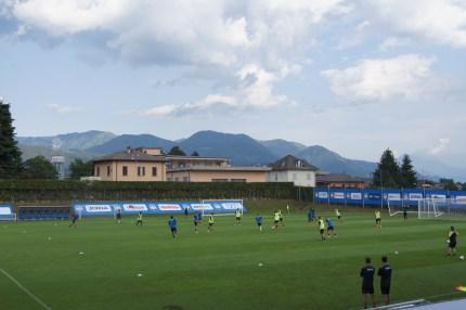 Atalanta agli allenamenti a porte aperte Clusone 2019