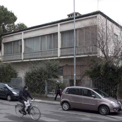 Casa Trussardi prima dell'abbattimento