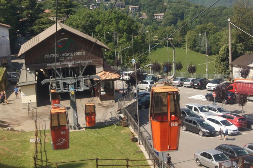 Stazione di partenza  della Cabinovia Aviatico Monte Poieto