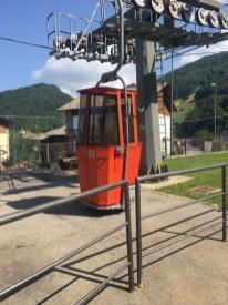 Cabinovia alla stazione di partenza