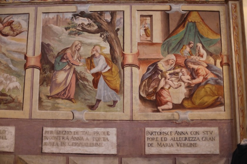 ciclo di affreschi dedicati alla Storia di Maria