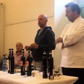 Manuele Biava e Giovanni Pina durante il workshop Moscato di Scanzo e Cioccolato