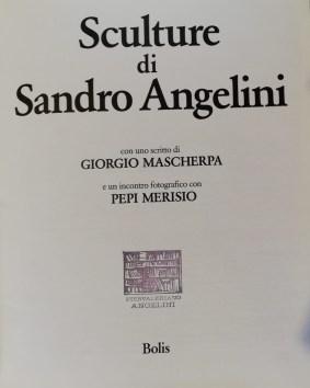 frontespizio libro dedicato a Sandro Angelini Scultore