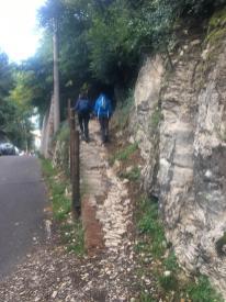 Imbocco del Sentiero del Gianino a Scanzorosciate