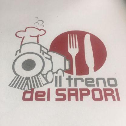Logo del Treno dei Sapori sulle tovagliette