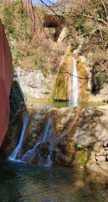4 cascate d'acqua al Parco del Gigante