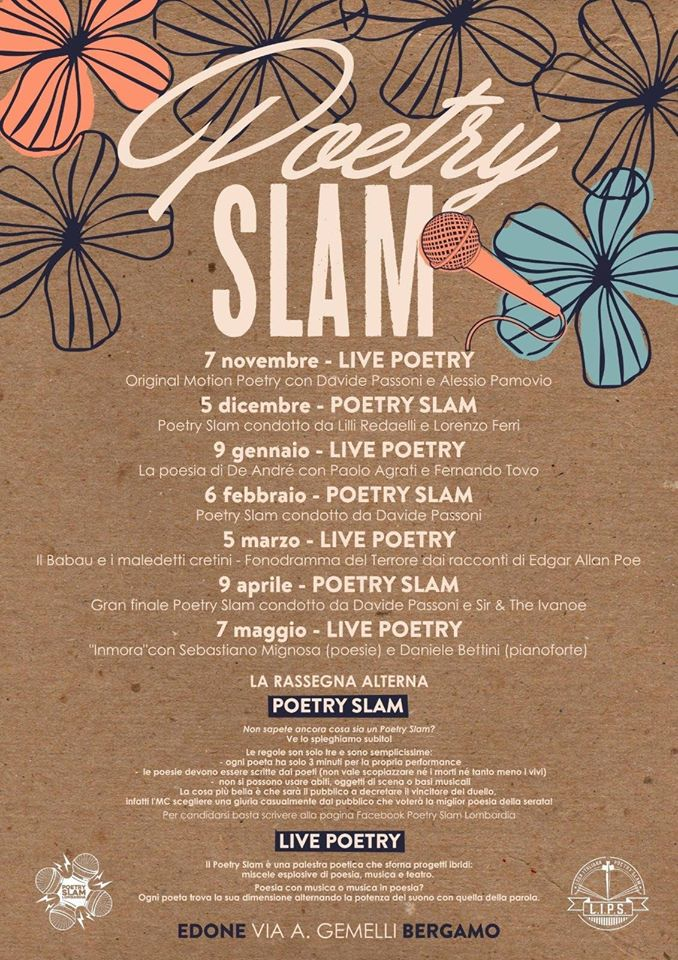 Locandina Poetry Slam