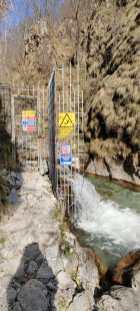 Val Vertova cancello Enel