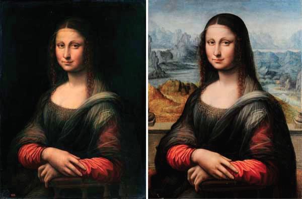 l'Altra Gioconda prima e dopo il restauro