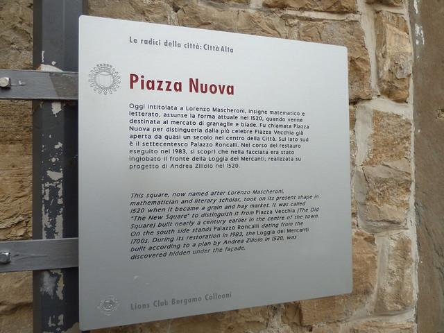 piazza mascheroni placchetta turistica
