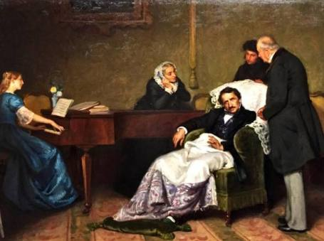 Morte di Gaetano Donizetti esposta in Accademia Carrara