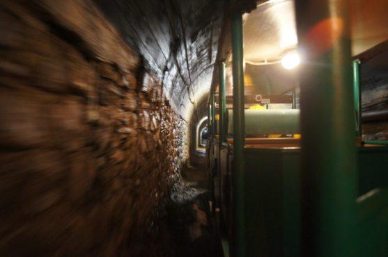 L'ingresso con il trenino nella Miniera di Schilpario