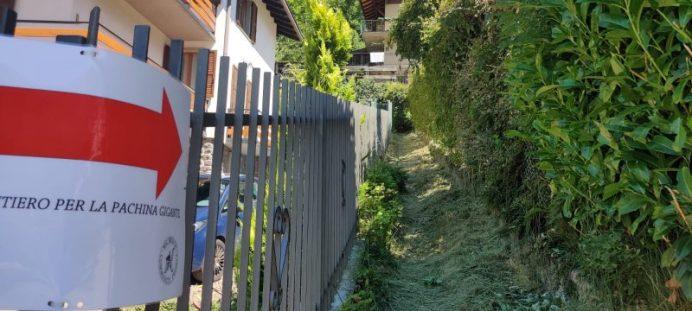2. indicazioni imbocco sentiero per raggiungere la panchina gigante di Schilpario