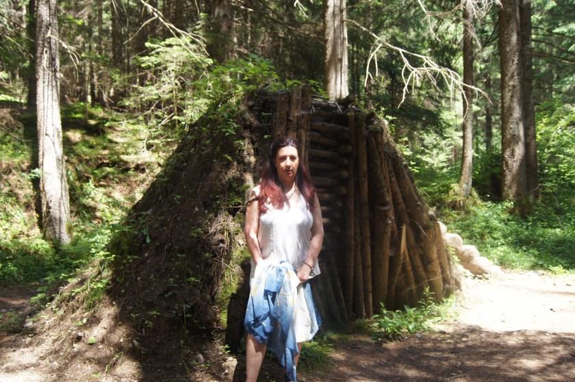 Raffi Garofalo nel bosco del Valle del Vò
