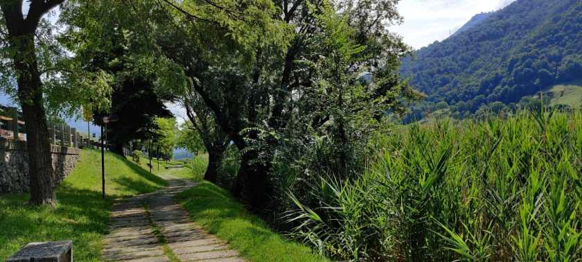 6 Percorso ciclopedonale sul Lago d'Endine