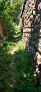 Sentiero per raggiungere la panchina gigante di Schilpario