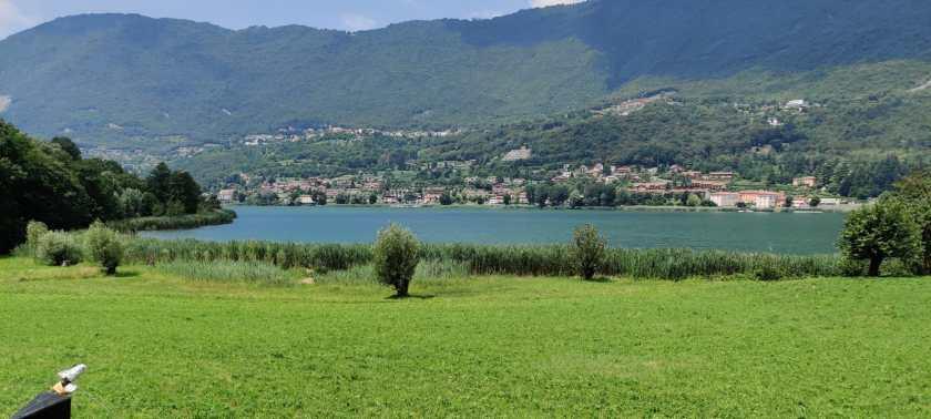 parte nord del lago non costeggiabile