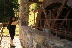 raffi fotografa la ruota del mulino idraulico di Valtorta