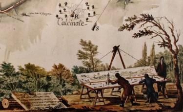 La carta dei Terzi raffigurante il Lago d'Endine nel 700