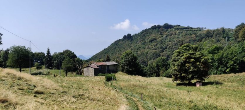 case sul Monte Zucco nel prato