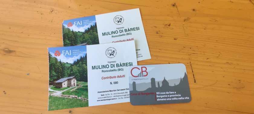 biglietti ingresso visita Mulino di Baresi
