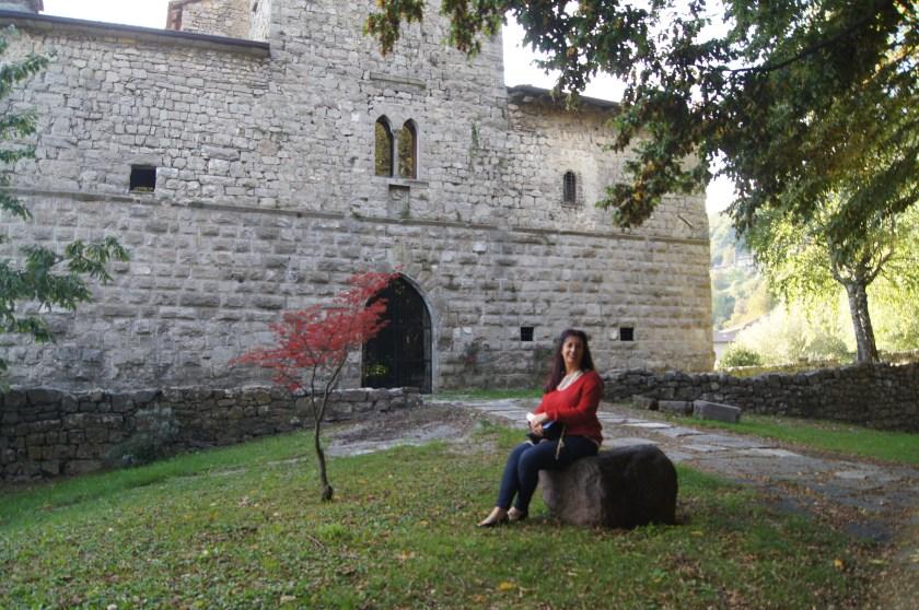 La facciata principale del Castello di Bianzano