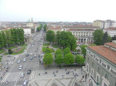 La vista su Bergamo Bassa dalla Torre dei Caduti