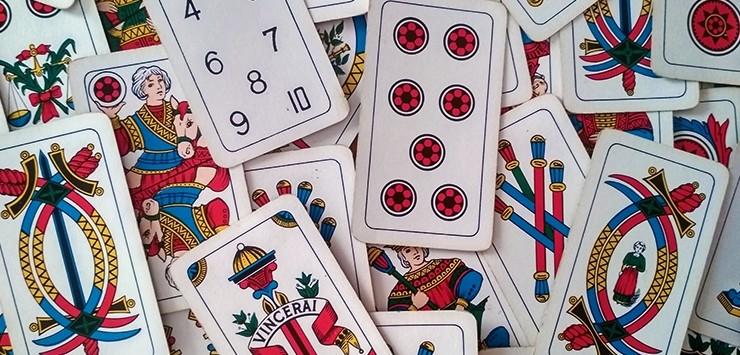 Carte bergamasche con la Margì nel 4 di spade