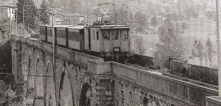 FVB trenino di Val Brembana in una foto storica