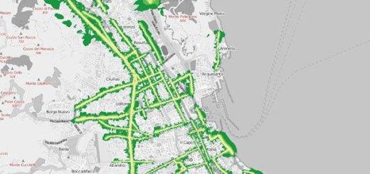 Mappa dell'inquinamento acustico notturno veicolare della Città di Palermo