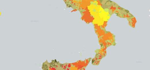 Mappa calore dei beni confiscati alle criminalità in Italia