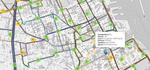 Trasporti pubblici Città di Palermo con il tutorial di @piersoft
