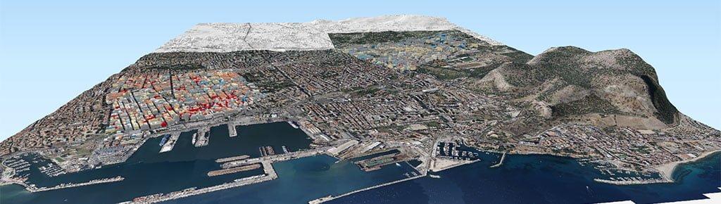 Palermo Mappa 3D esercizio Vulnerabilità sismica